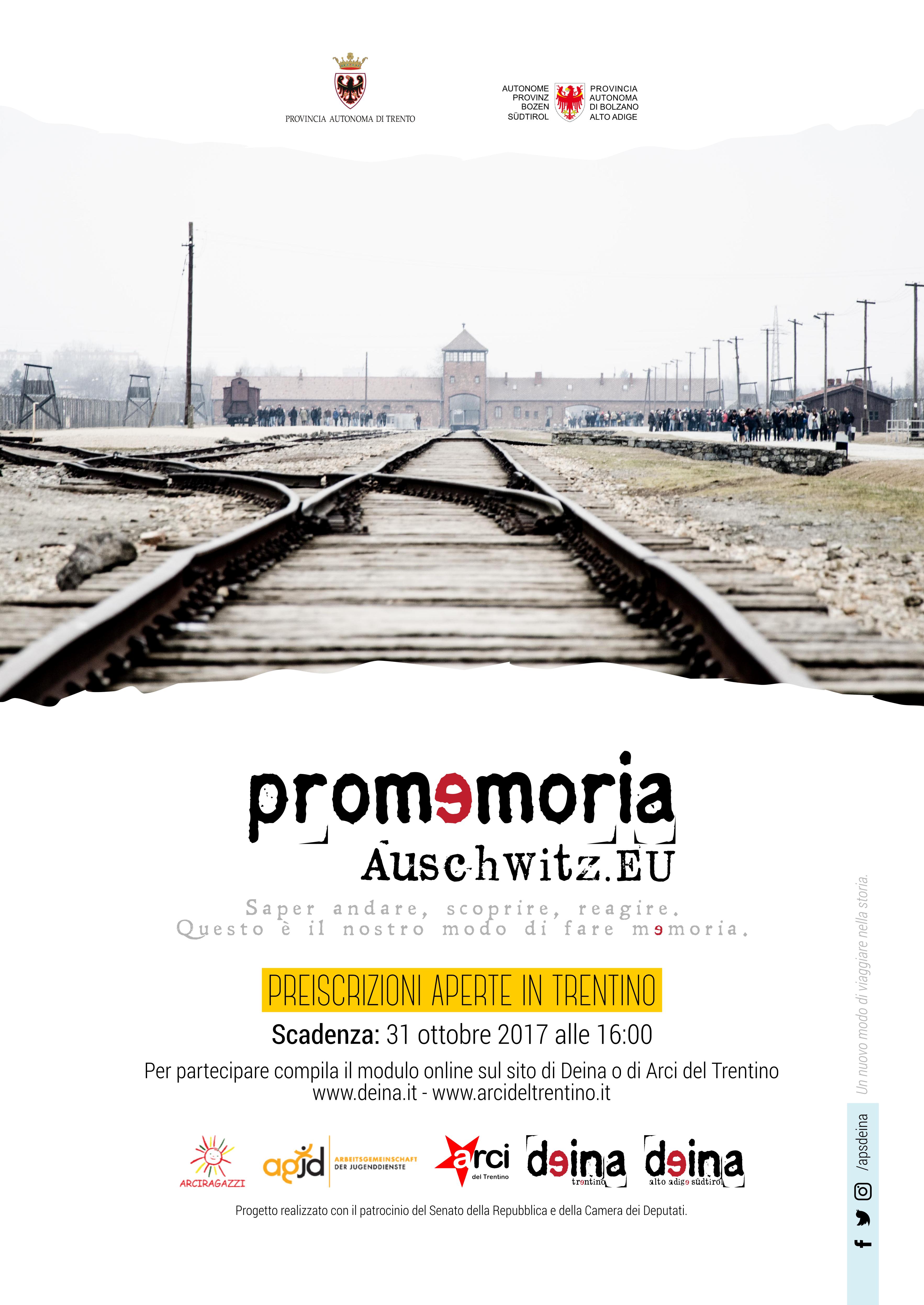 locandina promemoria_auschwitz.eu 2018 Trentino